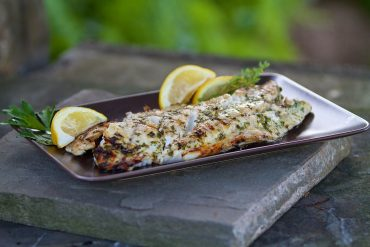 Grilled Striped Bass with Lemon and Herbs