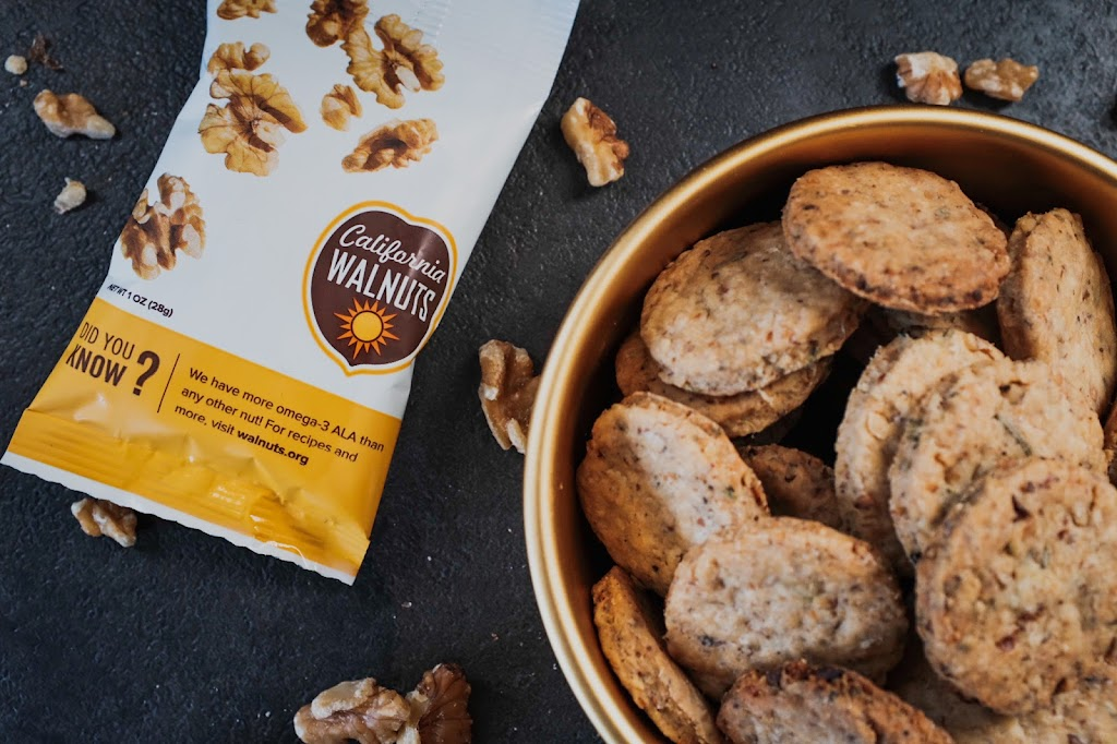 Rosemary Walnut Crackers featuring California Walnuts   Local Food Rocks