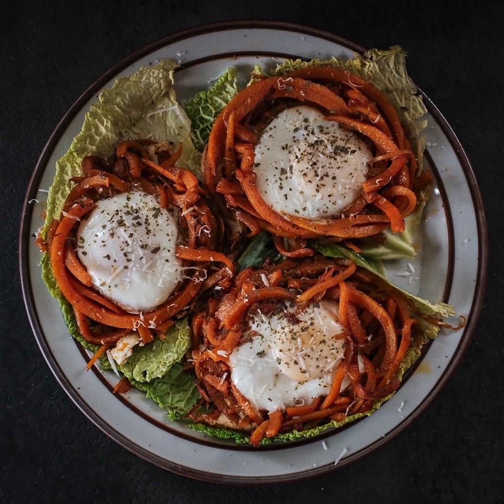 Butternut Squash Noodle Egg Nests | Local Food Rocks